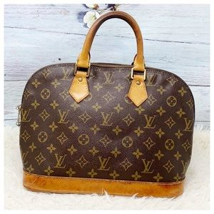 Authentic Louis Vuitton Alma Satchel Bag